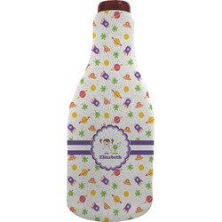 Girls Space Themed Wine Sleeve (Personalized)