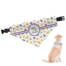 Girls Space Themed Dog Bandana (Personalized)