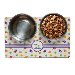 Girls Space Themed Pet Bowl Mat (Personalized)