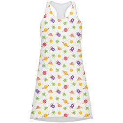 Girls Space Themed Racerback Dress (Personalized)