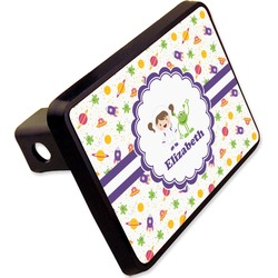 "Girls Space Themed Rectangular Trailer Hitch Cover - 2"" (Personalized)"