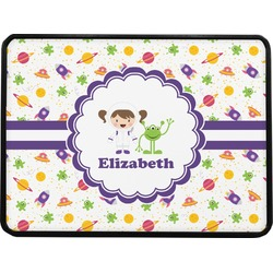 Girls Space Themed Rectangular Trailer Hitch Cover (Personalized)