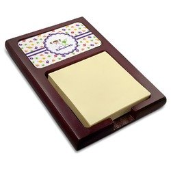 Girls Space Themed Red Mahogany Sticky Note Holder (Personalized)
