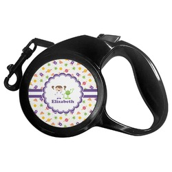 Girls Space Themed Retractable Dog Leash - Multiple Sizes (Personalized)