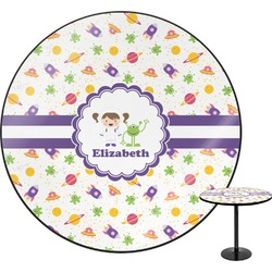 """Girls Space Themed Round Table - 30"""" (Personalized)"""