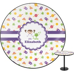 Girls Space Themed Round Table (Personalized)