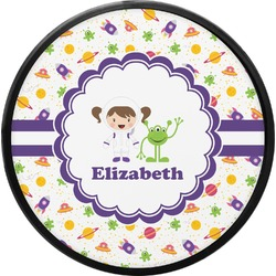 Girls Space Themed Round Trailer Hitch Cover (Personalized)