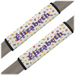 Girls Space Themed Seat Belt Covers (Set of 2) (Personalized)