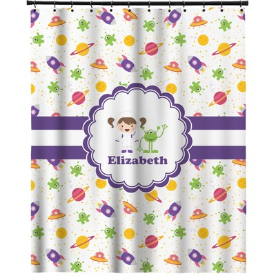 """Girls Space Themed Extra Long Shower Curtain - 70""""x90 ..."""