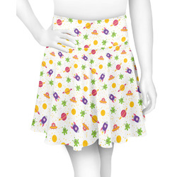 Girls Space Themed Skater Skirt (Personalized)