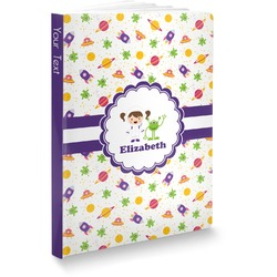 Girls Space Themed Softbound Notebook (Personalized)