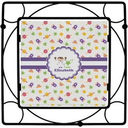 Girls Space Themed Square Trivet (Personalized)