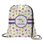 Girls Space Themed Drawstring Backpack (Personalized)