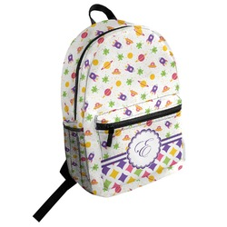 Girls Space Themed Student Backpack (Personalized)