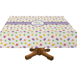 Girls Space Themed Rectangle Tablecloth (Personalized)