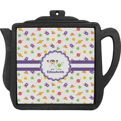 Girls Space Themed Teapot Trivet (Personalized)