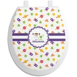 Girls Space Themed Toilet Seat Decal (Personalized)