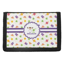 Girls Space Themed Trifold Wallet (Personalized)