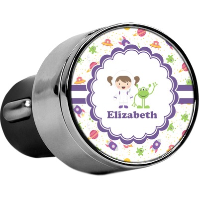 Girls Space Themed USB Car Charger (Personalized)