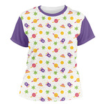 Girls Space Themed Women's Crew T-Shirt (Personalized)