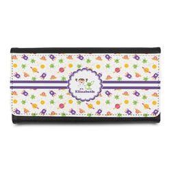 Girls Space Themed Leatherette Ladies Wallet (Personalized)