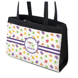 Girls Space Themed Zippered Everyday Tote (Personalized)