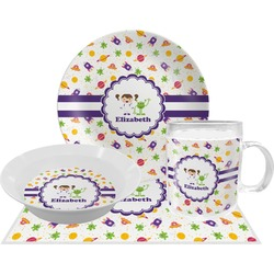 Girls Space Themed Dinner Set - 4 Pc (Personalized)