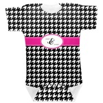 Houndstooth w/Pink Accent Baby Bodysuit (Personalized)