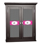 Houndstooth w/Pink Accent Cabinet Decal - Custom Size (Personalized)