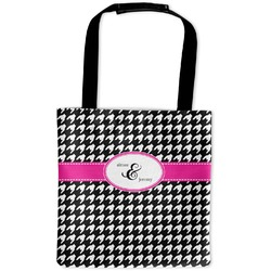 Houndstooth w/Pink Accent Auto Back Seat Organizer Bag (Personalized)