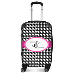 Houndstooth w/Pink Accent Suitcase (Personalized)