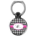 Houndstooth w/Pink Accent Cell Phone Ring Stand & Holder (Personalized)