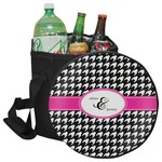 Houndstooth w/Pink Accent Collapsible Cooler & Seat (Personalized)
