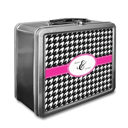 Houndstooth w/Pink Accent Lunch Box (Personalized)