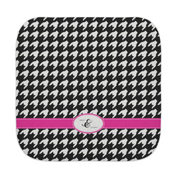 Houndstooth w/Pink Accent Face Towel (Personalized)