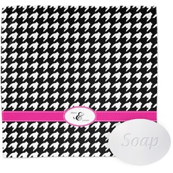 Houndstooth w/Pink Accent Wash Cloth (Personalized)