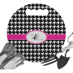 Houndstooth w/Pink Accent Gardening Knee Cushion (Personalized)