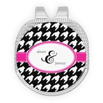 Houndstooth w/Pink Accent Golf Ball Marker - Hat Clip