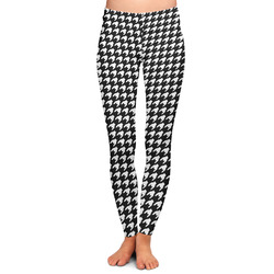 Houndstooth w/Pink Accent Ladies Leggings - Large (Personalized)