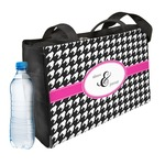 Houndstooth w/Pink Accent Ladies Workout Bag (Personalized)