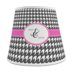Houndstooth w/Pink Accent Empire Lamp Shade (Personalized)
