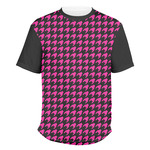 Houndstooth w/Pink Accent Men's Crew T-Shirt (Personalized)