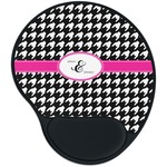 Houndstooth w/Pink Accent Mouse Pad with Wrist Support
