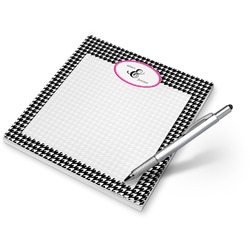 Houndstooth w/Pink Accent Notepad (Personalized)