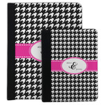 Houndstooth w/Pink Accent Padfolio Clipboard (Personalized)