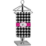 Houndstooth w/Pink Accent Finger Tip Towel - Full Print (Personalized)