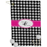 Houndstooth w/Pink Accent Golf Towel - Full Print (Personalized)