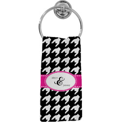 Houndstooth w/Pink Accent Hand Towel - Full Print (Personalized)