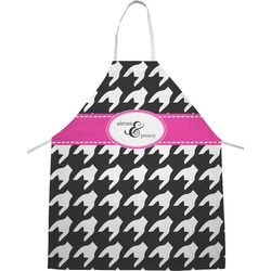 Houndstooth w/Pink Accent Apron (Personalized)
