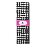 Houndstooth w/Pink Accent Runner Rug - 3.66'x8' (Personalized)